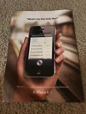 Vintage 2012 APPLE iPHONE 4S Poster Print Ad Art 1ST ONE SIRI INTEGRATED RARE