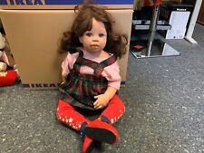 Monika Levenig Künstlerpuppe Vinyl Puppe 73 cm. Top Zustand