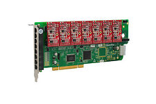 OpenVox A800P07 8 Port Analog PCI Base Card + 0 FXS + 7 FXO, Ethernet (RJ45)
