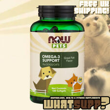 NOW Pets OMEGA-3 SUPPORT for Dogs & Cats 180 Softgels - Veterinarian Recommended