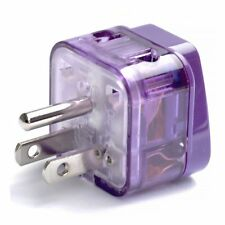 Travel Adapter Converter Plug Outlet Electric Socket US USA Canada - GROUNDED