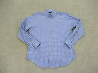 Peter Millar Button Up Shirt Adult Medium Blue White Casual Long Sleeve Men B38