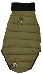 Trespass Lloyd Dog Puffer Jacket Khaki - Medium - Up To 45cm Back L - 45cm Neck