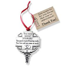 Nurse Message Tribute Ornament (CO764) NEW 2 1/4 Inches High