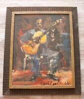 Original Vintage Oil Painting Portrait Signed by Listed Artist Jack Cooley Frame