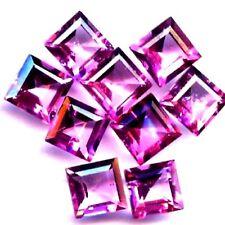 NATURAL PINK TOPAZ GEMSTONES LOOSE PAIR OF PRINCESS CUT 5.1 x5.1 mm TOP AAA