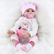 22'' Lifelike Newborn Silicone Vinyl Reborn Baby Dolls Handmade Full Body Soft