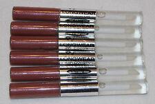 Lot of 6 Tubes Jordana Longwear Lip Color 07 Fawn to Dusk 8 Hour Wear