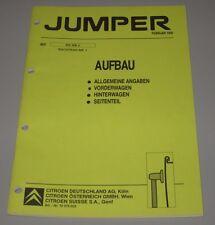 Werkstatthandbuch Citroen Jumper Aufbau Vorderwagen Hinterwagen Seitenteil 1995