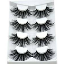 4 Pairs 25mm 3D Mink Hair Eyelashes Fluffy Natural Long Full Wispy Lashes MDR-4
