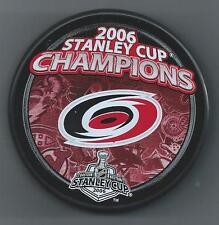 2006 Stanley Cup Champions  Carolina Hurricanes  Souvenir Hockey Puck