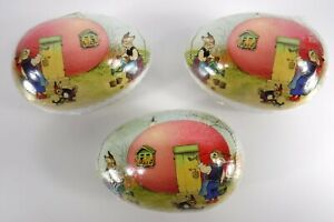3 Paper Mache Easter Eggs World Market Germany Bunnies