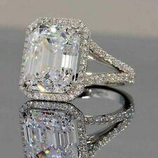 4.00 CT Moissanite White Emerald Lovely Engagement WEDDING GIFT Ring 925 Silver