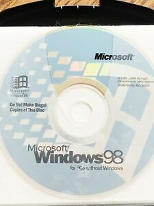 Microsoft Windows 98 SE OS Second Edition for PC's without Windows Product Code