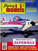 Vintage Flying Models Magazine July 1989 Robbe Model Sport's Supermax m293