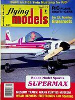 Vintage Flying Models Magazine July 1989 Robbe Model Sport's Supermax m293