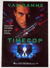 Timecop - Jean Claude Van Damme - Original Film Presseheft (Y-4277+
