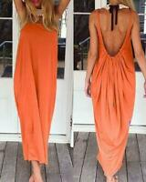 Womens Raviya OMBRE Maxi Dress Low Back Boho Tribal Straps Beach Cover Up 2019