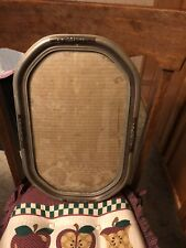Antique Large Ornate 8 Sided Picture Frame W/convex Glass