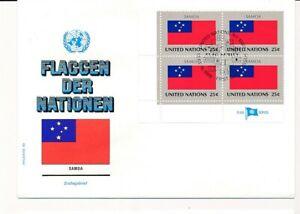 D112818 Flag Series Samoa FDC United Nations New York Bureau