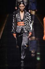 $4,895 AUTH NWT BALMAIN Metallic Black & White Tweed jacket Sz FR38/US4-6