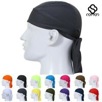 Men Fitted Solid Tied Back Bandana DOO RAG Do Du Motorcycle Skull Cap Head Wrap