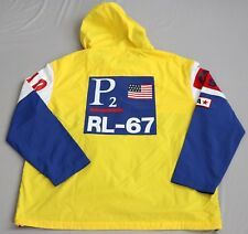 NWT Polo Ralph Lauren P2 Regatta Pullover Jacket CP-93 Yellow Blue White L Vtg