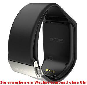 TomTom Wechselarmband Premium schwarz L für Runner & 2 Spark & 3 Golfer black