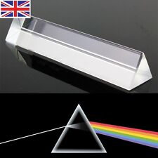 8cm Optical Glass Triple Triangular Prism Physics Teaching Light Spectrum