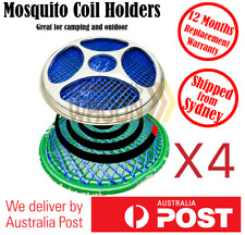 Mosquito Mozzie Coil Holders Repellent Home Garden Camping Outdoor 4 Holders
