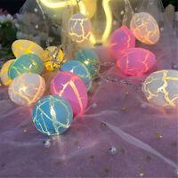 Happy Easter Eggs String Light Pastel Indoor Battery Lamp Nightlight Party Decor
