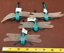 """Four Large Plastic Dragonfly Insects, Science Garden Nature """"lifelike"""""""