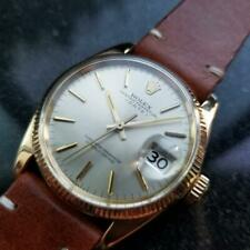 ROLEX Men's 14k Gold Oyster Perpetual Date ref.1500 automatic c.1970s LV259TAN