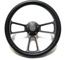 Volkswagen VW 1960-1973 Black Steering Wheel Beetle Karmann w/ VW Horn, Boss Kit