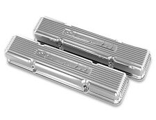 Holley 241-107 SBC Small Block Chevrolet GM Licensed Valve Covers Polished Vette