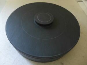 """Large 8"""" Round DUAN Sumi-e Ink stone with Stone Lid Cover"""