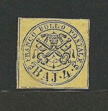 Francobolli italiani dell'antico Stato Pontificio giallo