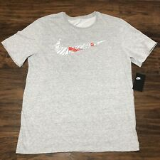 The Nike Tee Dri-Fit T-Shirt, Gray, Men's Size XL and XXL