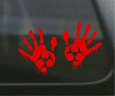 2 Zombie Red Bio Blood Hand Decals Sticker Outbreak Response Hunter 1263/64