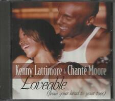 KENNY LATTIMORE & CHANTE MOORE Loveable EDIT & INSTRUMENTAL PROMO DJ CD single