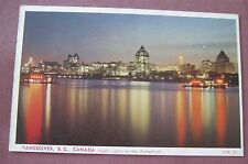 Vancouver BC Night Lights on the Waterfront Postcard