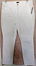 """Not Your Daughters Jeans 97% cotton solid white """"Marilyn"""" straight leg size 14W"""