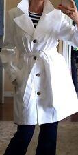 NWT White Trench Coat Size XL $100