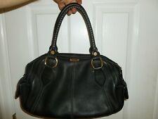 CELINE Handbag Bag Tote Satchel Shopper Black Leather Large