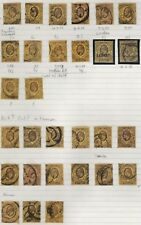 1902/13 EDWARD VII 3d PURPLE/YELLOW USED/MINT COLLECTION INC OVERPRINTS OFFICIAL