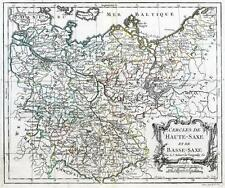 C1784 Antiguo Mapa Alemania Prusia Polonia Bohemia Cercles de Haute-Saxe Basse