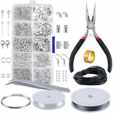 Earring Jewellery Making Kit Wire Findings Pliers Necklace Repair Starter Tools