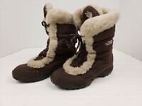 The North Face women's goose down faux fur lined snow winter boots brown size 7