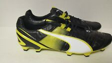 PUMA Men's King II SuperLight FG Soccer Shoes, Black/White/Sulphur, US Size 11