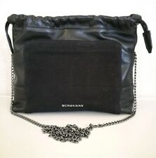 Burberry Black 'Little Crush' Leather Crossbody Bag with Chain Shoulder Strap